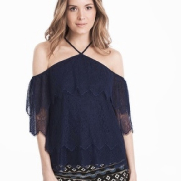 9667d1e400bf1 Nwt White House Black Market Lace Halter Top
